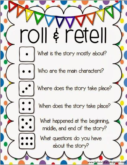 An Apple For The Teacher: Roll and Retell - Building Summarizing, Communication, and Writing Skills  http://www.pinterest.com/pin/63894888438391359/