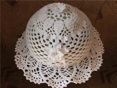 crocheted panama hat Crochet and Knitting Pinterest