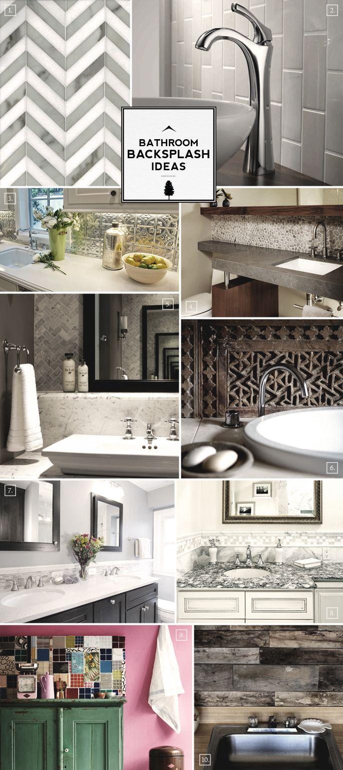 Vanity Design Bathroom Backsplash Ideas Bathroom Ideas Pinterest