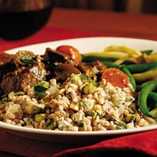 Farro with Pistachios & Herbs-This is soooo good. It is a great way to ...