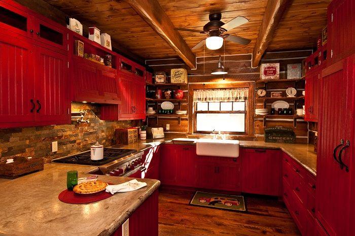 Red Country Kitchen Kitchen Ideas Pinterest