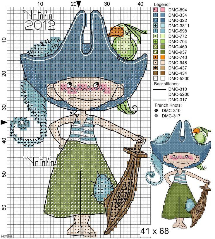 Пиратские схемы вышивка