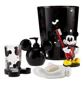 Mickey mouse bathroom accessory set everything mickey minnie mouse - Mickey mouse bathroom accessory set ...