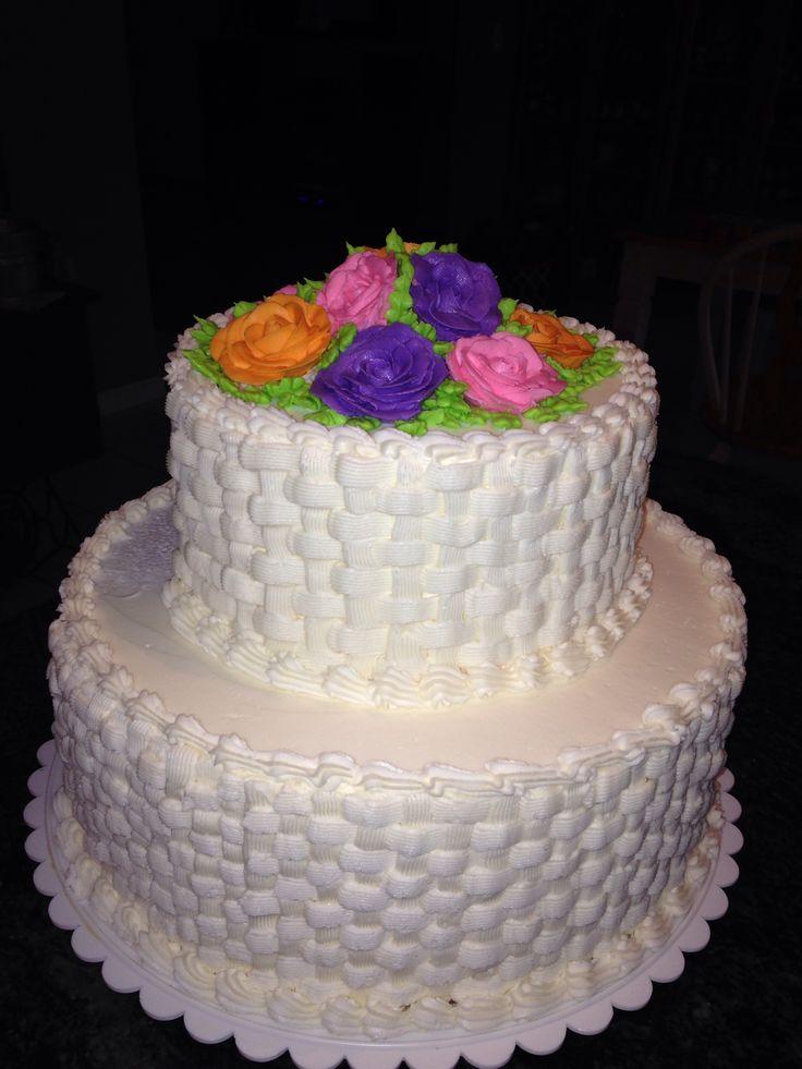Basket Weaving A Cake : Basket weave cake wedding