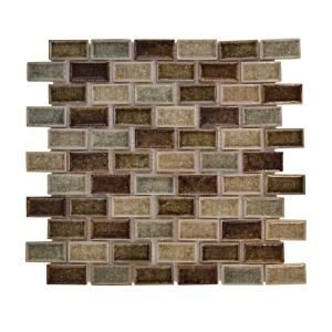 Kitchen backsplash - Mineral Springs Crackle Glass Tile - Home Depot
