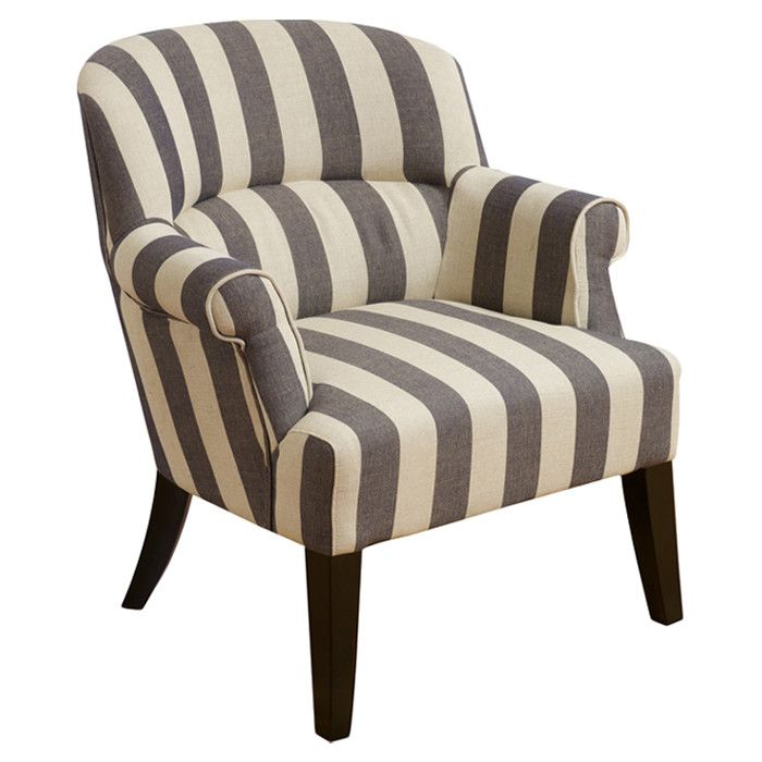 Striped Arm Chair