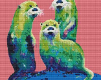 Margarita Otters on Fresh Melon' | Not Your Mother's Cross Stitch ...