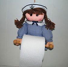 Bathroom decor ideas pinterest - Nautical Bathroom Decor Doll Toilet Tissue Paper Holder Bathroom