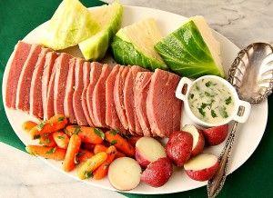 Irish Corned Beef With Sour Cream Horseradish Sauce