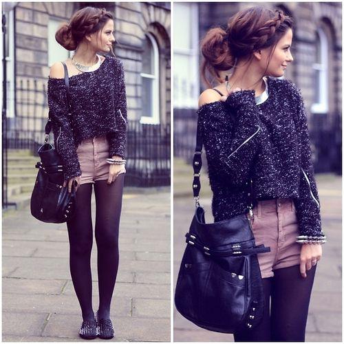 bag, black, braid, fashion