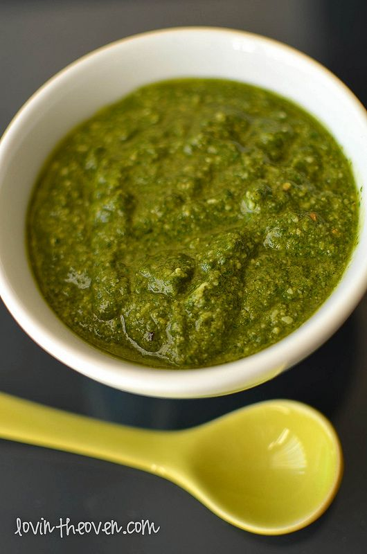 Basil Pesto - Lovin' From The Oven I made it Without the Pine Nuts, it ...