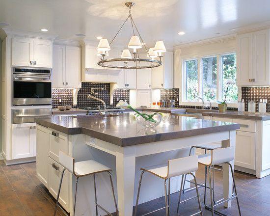 white kitchen, with concrete counters  white kitchen  Pinterest