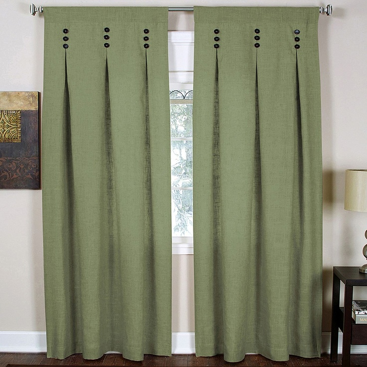 Pinch Pleat Curtains With Button
