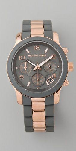 Michael Kors    Runway Time Teller Watch  Style #:MKWAT40018  $225.00.