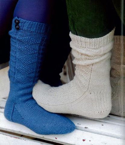 Maggie's Crochet · Country Weekend Socks #knit #pattern #traditional #British #socks #cute #fashion #long #short #warm *NOTE: These are knitted socks*