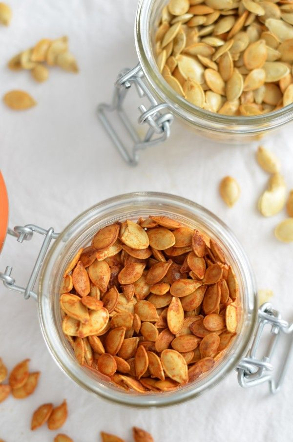 Spicy Honey-Roasted Squash Seeds | Let's Give Thanks & Everything Pum...