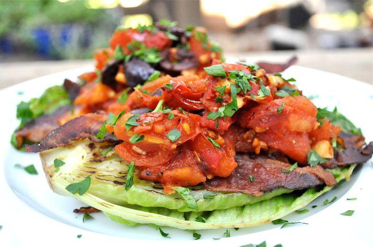salad grilled salad grilled chicken salad blt grilled romaine ...