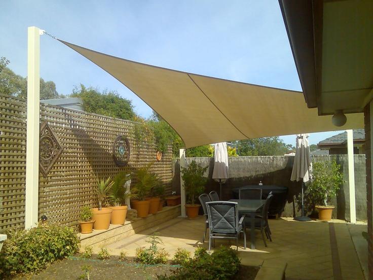 Shade sail backyard pinterest for Colorado shade sail
