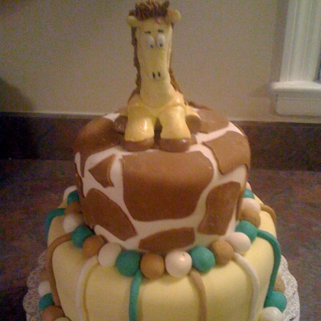 giraffe baby shower cake my cool cakes pinterest