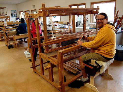 Bill brought his own Swedish loom to class! | Scandinavian Heritage Week at the John C. Campbell Folk School - folkschool.org