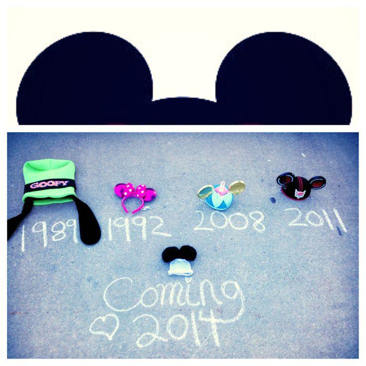 Pregnancy reveal Disney themed