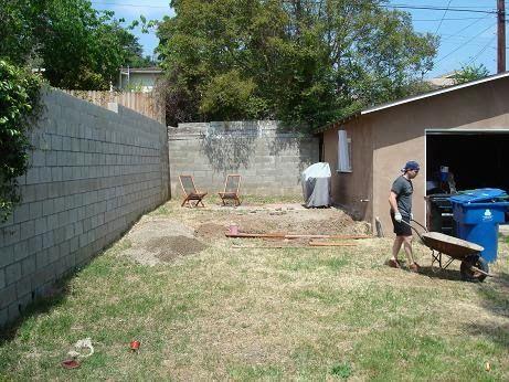 De posed Granite Patio In the Garden