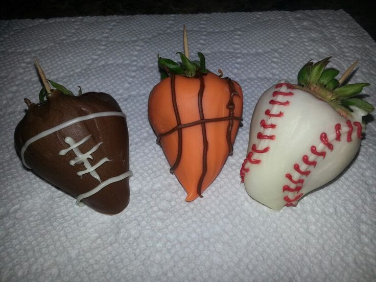 Sports themed Chocolate covered strawberries