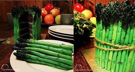 Asparagus cake- Cake Wrecks- Sunday Sweets