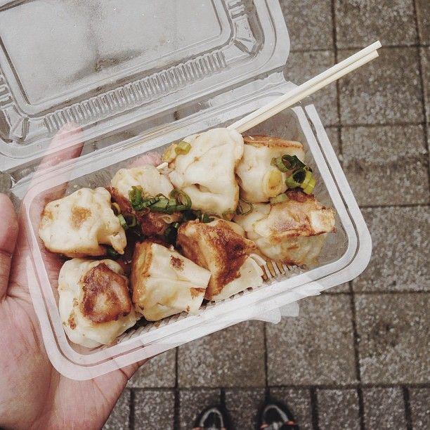 Pan-fried dumplings | yummy treats | Pinterest