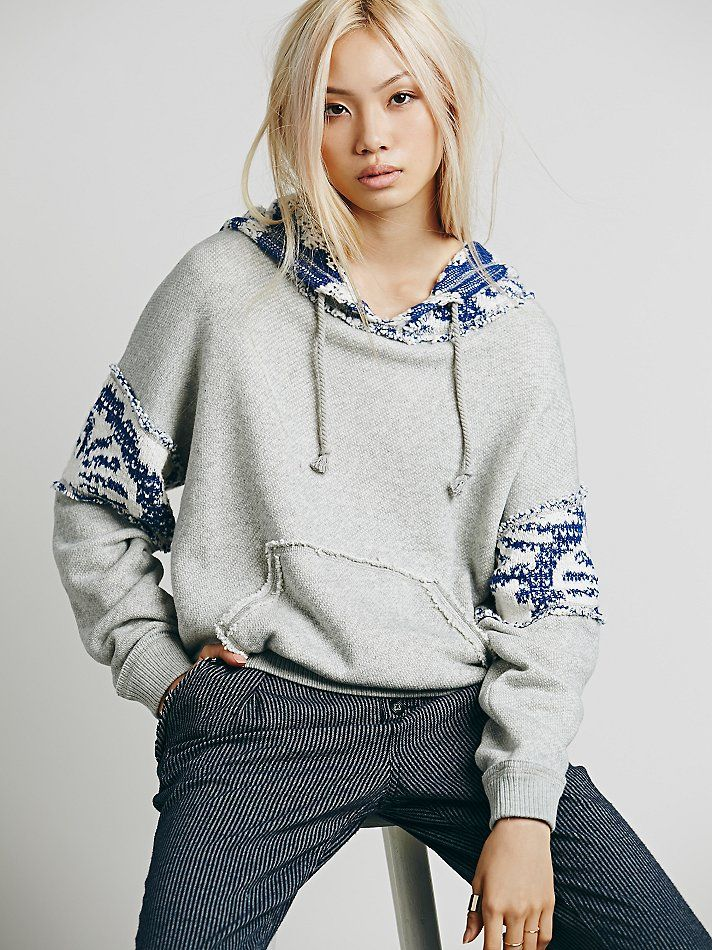 Free People Fairisle Fleece Hoodie