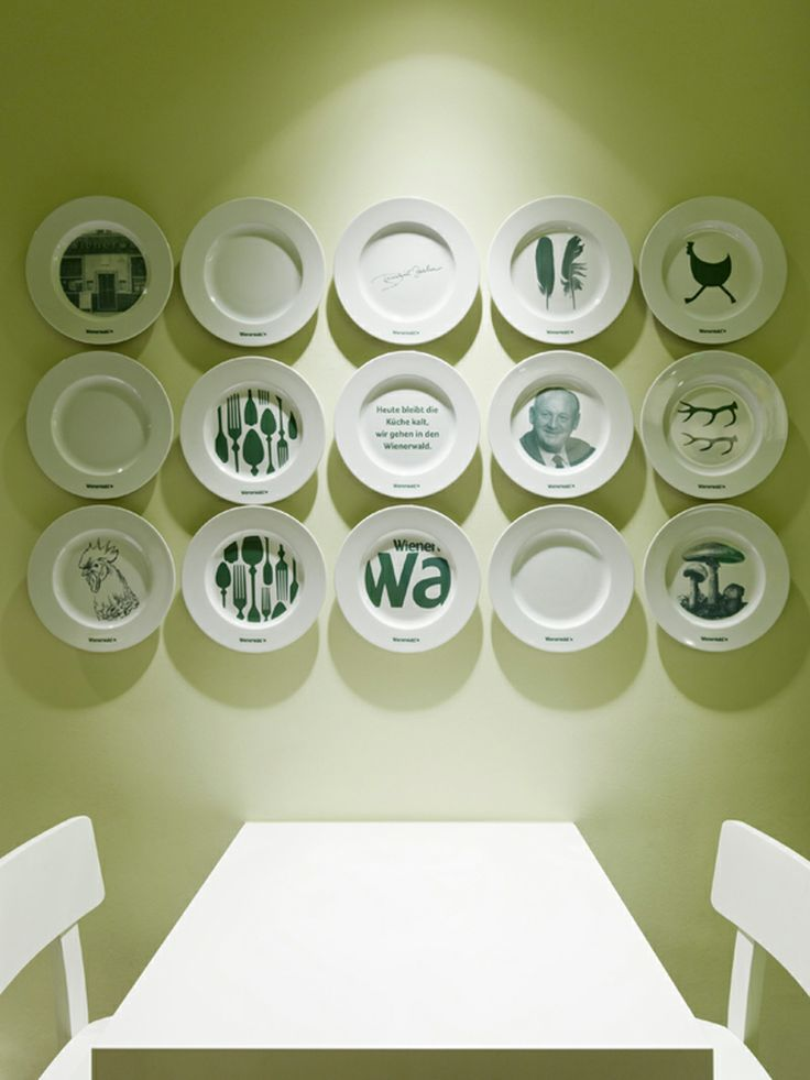 Wall decorations with plates Decorating with plates