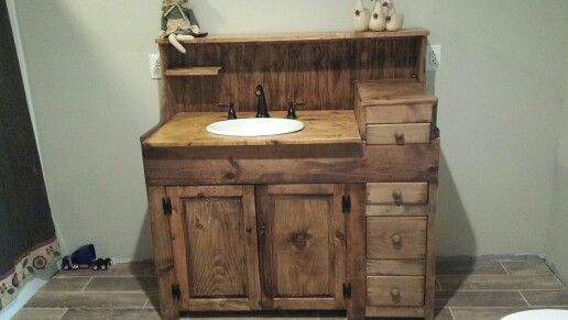 Awesome Primitive Bathroom Vanities Primitive Bathroom Vanity