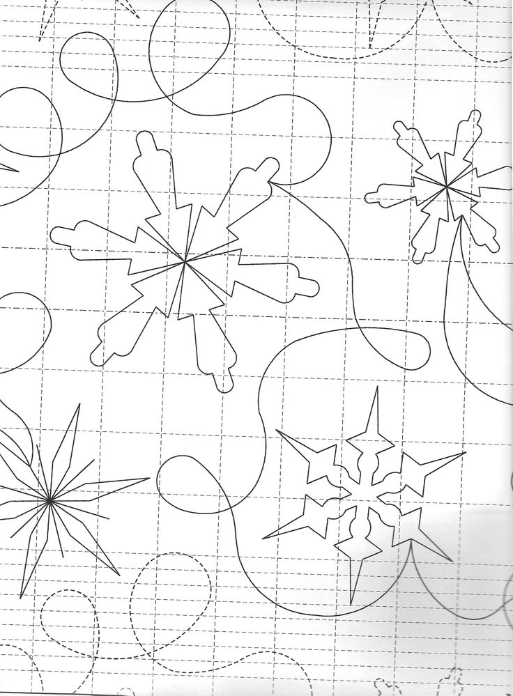 Free Snowflake Quilting Stencil : snowflake quilt design Free motion quilting Pinterest