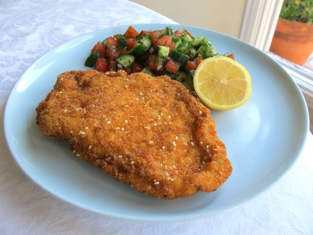 Chicken Schnitzel.... This was a staple we had on our mission tro to ...