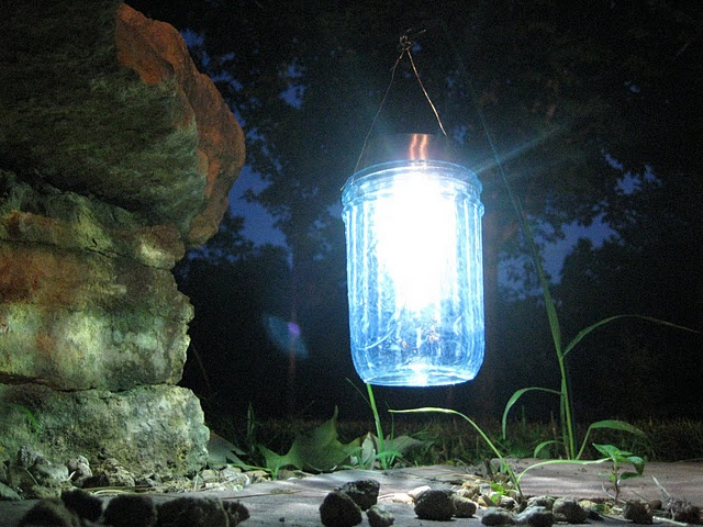Awesome mason jar solar lights