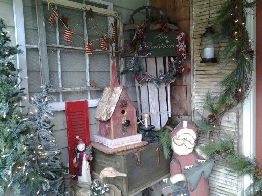 Country Christmas Decorations For Front Porch : A country christmas front porch ideas