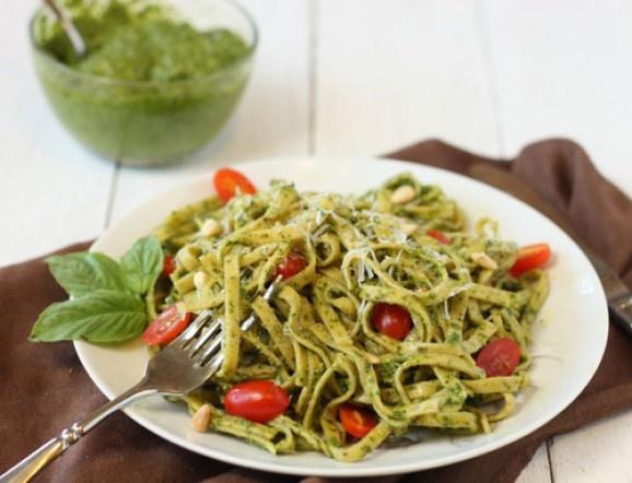 Basil Pesto Pasta | Cooking | Pinterest