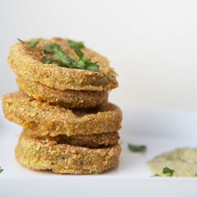Fried Green Tomatoes with Remoulade | Veggie and Vegan Cusine | Pinte ...