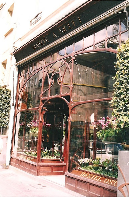 Art nouveau storefront-another pin on this board shows this store from a different angle.