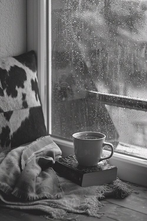 """And when the rain beats against my windowpane, I'll think of summer days again & dream of you."""
