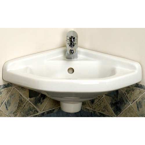 Corner Wall Hung Sink : ... Wall Mounted Corner Sink Barclay Products Wall Mounted Bathroom Sinks
