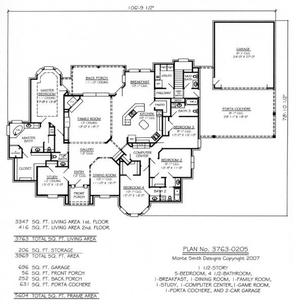 5 bedroom house plans 1 story house pinterest for 5 bedroom house plans