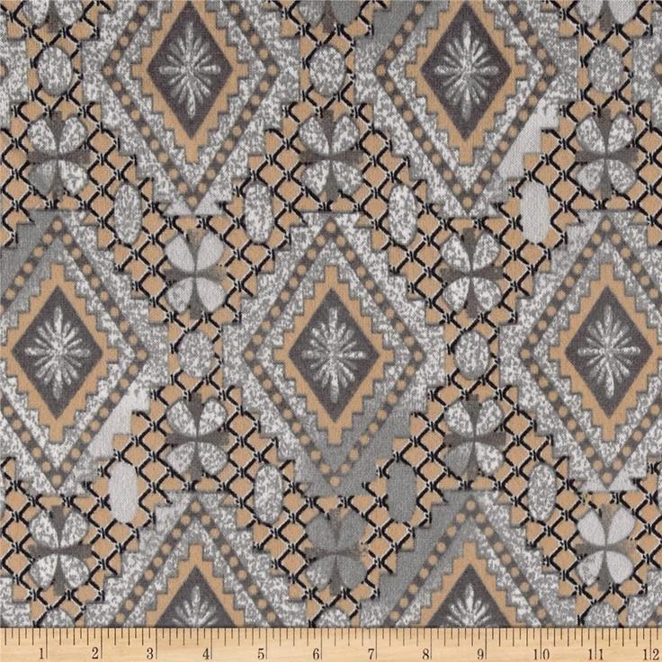 Hatchi Sweater Knit Geometric Grey
