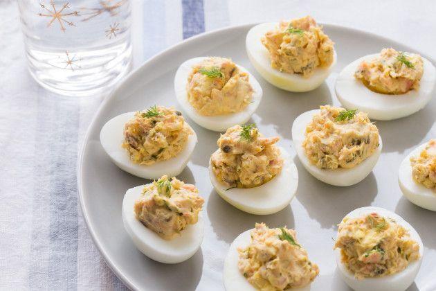 Smoked Salmon Deviled Eggs | Recipes | Pinterest