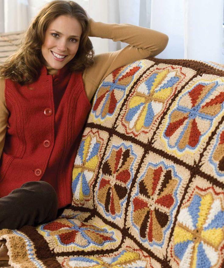 Carousel Throw Crochet afghans Pinterest