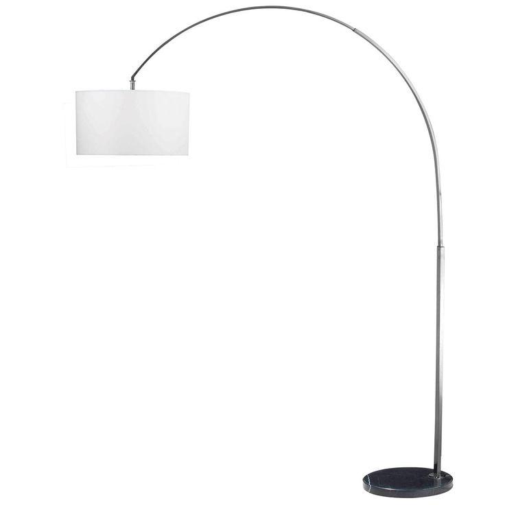 drum shade arc floor lamp. Black Bedroom Furniture Sets. Home Design Ideas