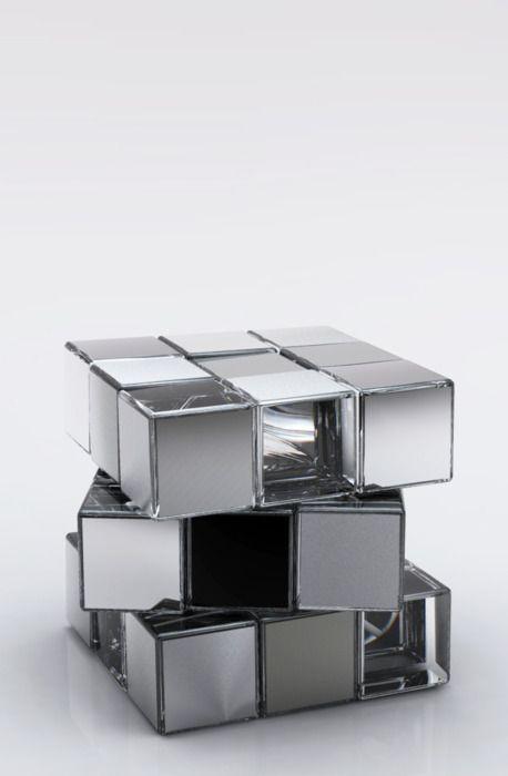 Rubik's Cube in glass
