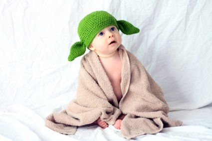 Amazon.com: Milk Protein Cotton Yarn Handmade Baby Yoda Hat - Fits 6 to 12 Months Baby: Everything Else