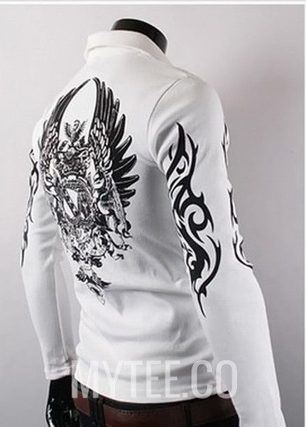 Icarus ls polo shirt for Tribal tattoo shirt