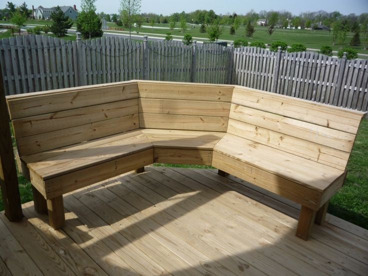 Corner Bench - Could this work in our backyard?